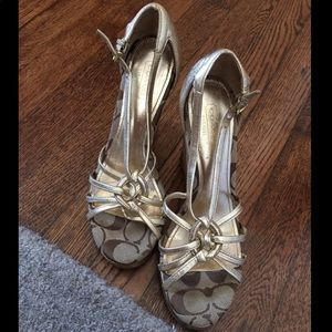 *ATHENTIC COACH WEDGE HEELS. Worn once